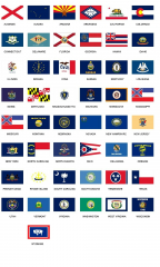The United States USA State Flags