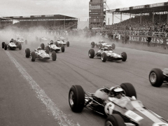 Start of the British Grand Prix at Siverstone, 1965