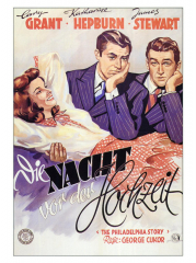 The Philadelphia Story, German Movie Poster, 1940